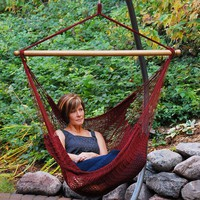 Trendy Looking Hanging Caribbean Rope Chair by Algoma
