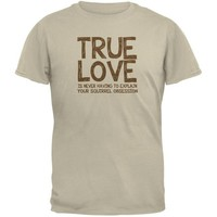 DCCK1 Valentines Day True Love Squirrel Sand Adult T-Shirt