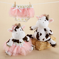 """""""Daisy Lou & Bloomer, Too!"""" Plush Cow and Bloomer"""