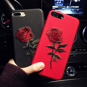 Iphone 6/6P Iphone 7/7P Cute Hot Deal Embroidery Iphone Apple Phone Case [11686938255]