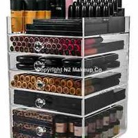 Acrylic Makeup Organizer Cube | Clear Drawer Storage Box Holder for Cosmetics