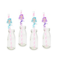 Mermaids Party Straw 24PCS Paper Straws Birthday Decoration Party Festive Supplies Paper Drinking Straws Event Supplies