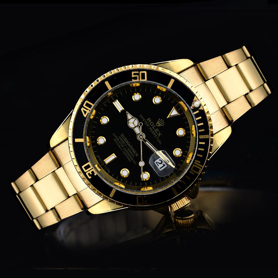 Image of Rolex new dial diamond men and women splicing color casual business watch