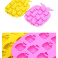 Pineapple Shape Novelty Ice Cream Maker Mold Tray Cube Drink DIY Party Bar Home