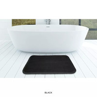 "PopularBath Plush Dot Superior Foam Bath Rug 17"" x 24"" (Black)"