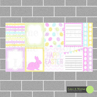 Easter Pack | Erin Condren Planner Square Stickers