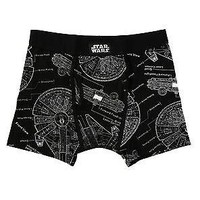 Licensed cool Star Wars Millennium Falcon Han Solo Vehicle Men's Boxer Briefs Underwear S-M