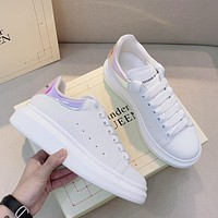 Alexander McQueen fashion men's and women's sneakers new white shoes