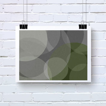 Abstract Generative Art based on Mathematics and Geometry. Mystic Rose 038_5u. Olive and Greys. Bedroom wall art. sacred geometry art.