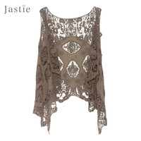 Hippie Froral Patch Design Vest Retro Vintage Crochet Summer Beach Cover Up Asymmetric Open Stitch Kimono