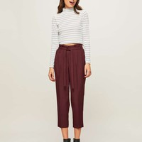 PETITE Paper Bag Trousers | Missselfridge