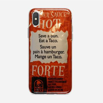 Taco Bell Packets iPhone X Case