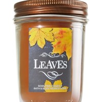 Mason Jar Candle Leaves