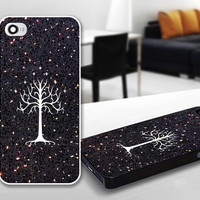 LOTR White Tree of Gondor Sparkle Print Case for iPhone 4/4s, 5, 5c, 5s, Samsung S3, S4