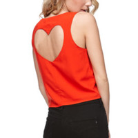 LA Hearts Heart Back Red Tank at PacSun.com