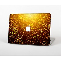 """The Bright Gold Glowing Sparks Skin Set for the Apple MacBook Pro 13"""" with Retina Display"""