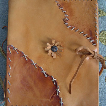 Native American Inspired Large Leather Sketchbook, Journal, Leather Journal, Leather Notebook, Photo /album, Guest Book, Leather Bound