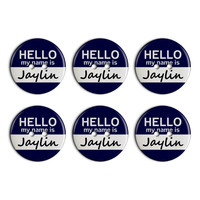 Jaylin Hello My Name Is Plastic Resin Button Set of 6