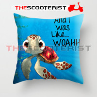 """Squirt from Finding Nemo - Pillow Cover 18"""" x 18"""" - One Side"""