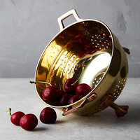 Copper-Plated Colander, Gold