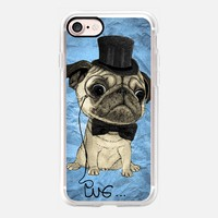 Gentle Pug (color version) iPhone 7 Case by Barruf | Casetify