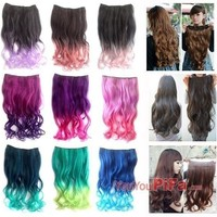 Long Curl Wavy Clip-on Sexy Stylish Hair Extension = 5658505153