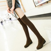 Hot Deal On Sale Stylish Winter Korean With Heel Slim Boots [11192770247]