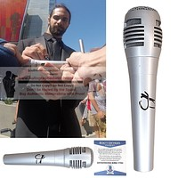 Seth Rollins Signed Pyle Microphone, WWE Champion, Proof Photo, Beckett BAS Y77903