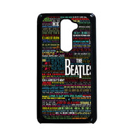 the beatles typography song lyric LG G2 Case