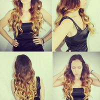 Ombre Hair Extensions Human Hair Extensions. by Cloud9Jewels