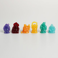 Mini Laughing Buddha Figurines, Set of 6 | World Market