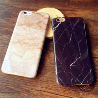 Simple Marble Case Cover for iPhone 5s 6 6s Plus Gift-156