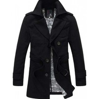 The Barnes Double Breasted Trench Black - leatherandcotton