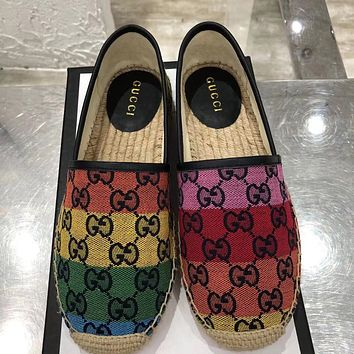 GUCCI GG new double G letter women's fisherman shoes