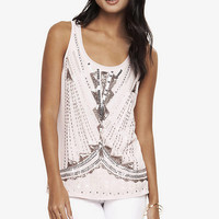 ART DECO SEQUIN EMBELLISHED TANK from EXPRESS