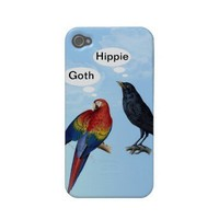 Goth Hippie Funny iphone case by Clareville designs