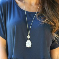 Seize The Day Necklace in Clear | Monday Dress Boutique
