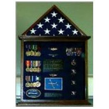 Flag Case, Flag and Badge display cases, 5'x8' flag