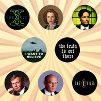 The X-Files Set of 8 - 1 Inch Pinback Buttons