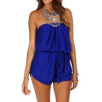 Sale-royal Strapless Lace Side Romper