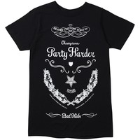 Party Harder Tee - Black