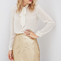 Sequined Bodycon Skirt