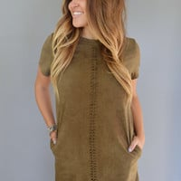 Asheville Faux Suede Shift Dress