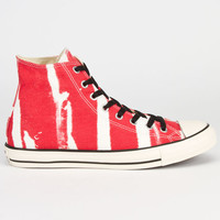 Converse Chuck Taylor Bleach Hi Mens Shoes Red  In Sizes