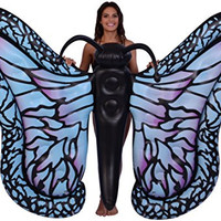 """Inflatable Gigantic 81"""" Inflatable Butterfly Pool Float, Inflatable Raft; Ride-On"""
