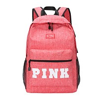 Victoria New fashion letter print couple backpack bag Pink