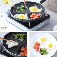 Multifunction 8/10inch Nonstick Frying Pan Aluminium Alloy 4 units Cookware Fry Egg Pan Pancake Steak Pan Use for Gas Cooker