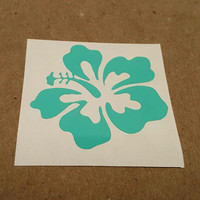 Hibiscus flower decal, hibiscus flower, hibiscus Car decal, hibiscus
