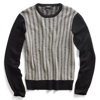 Black And White Patterned Merino Sweater