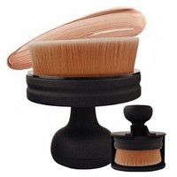 1pc Circle Makeup Brushes 35 Angle Foundation Cream Powder Micro Fine Beauty Oval Make Up Brushes With Holder